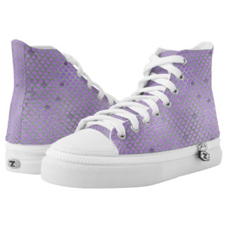 Purple and Green Mermaid Scales High Tops