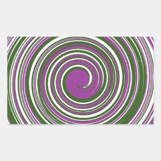 Purple and green pinwheel design