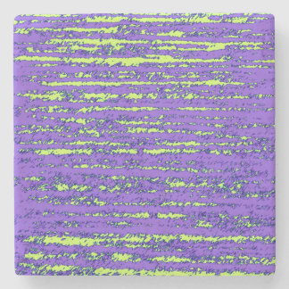 Purple and Green rips Stone Coaster