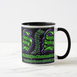 Purple and Green Sick Stick Custom Mug