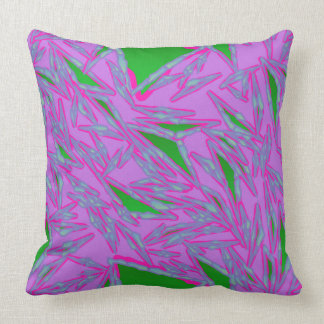 Purple and Green Triangles Pillow