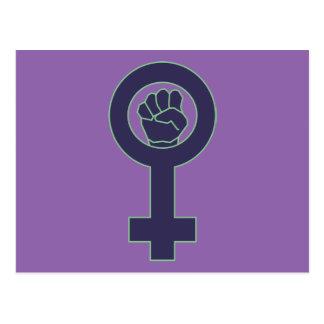 Purple and green venus mirror design postcard