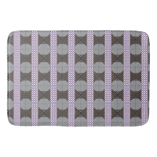 Purple and Grey Abstract Bath Mat