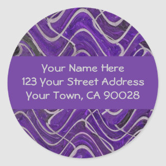 purple and grey address labels