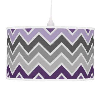 Purple and Grey Chevron Pendant Lamp