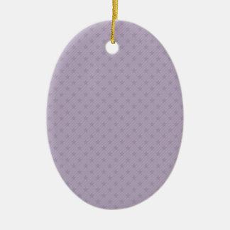 Purple and Grey Stars Christmas Ornaments