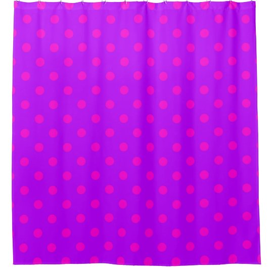 Purple and Hot Pink Polka Dots Pattern