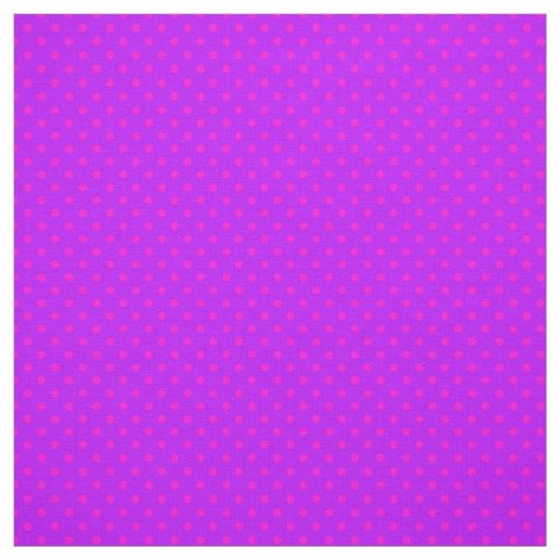Purple and Hot Pink Polka Dots Pattern Fabric