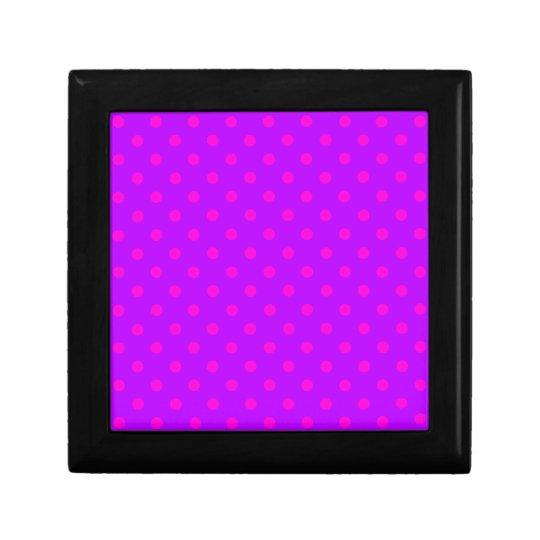 Purple and Hot Pink Polka Dots Pattern Gift Box