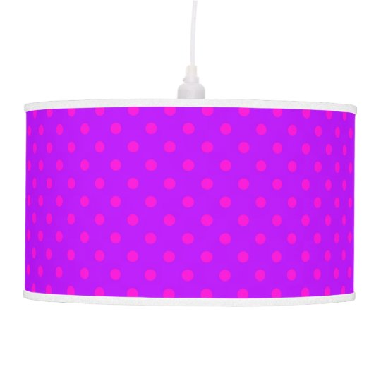 Purple and Hot Pink Polka Dots Pattern Pendant Lamp
