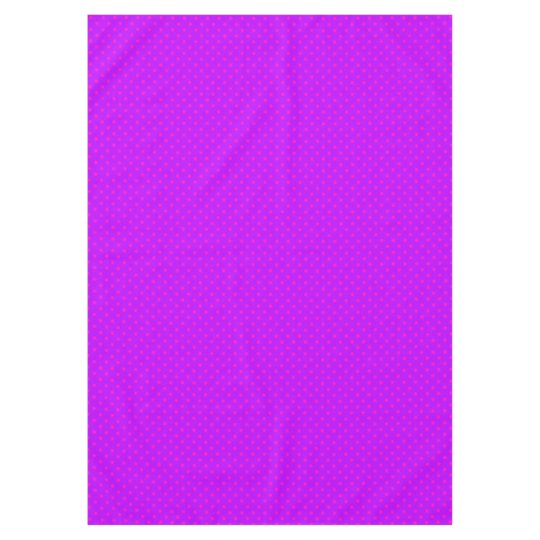 Purple and Hot Pink Polka Dots Pattern Tablecloth