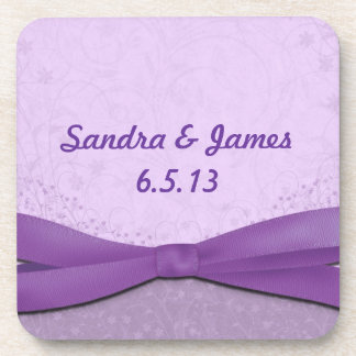 Purple and Lavender Floral Coaster