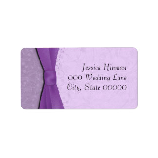 Purple and Lavender Floral Wedding Address Labels