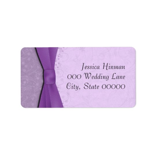 Purple and Lavender Floral Wedding Address Labels