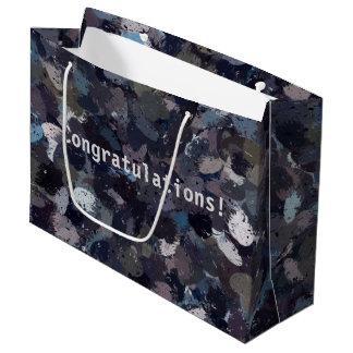 Purple and Lavender Paint Splatter  9163 Large Gift Bag