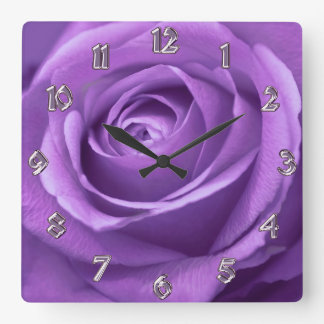 Purple and Lavender Rose Clock
