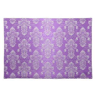 Purple and Lavender Two Tone Damask Placemats