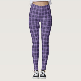 Purple and Lavender Winter Plaid Leggings