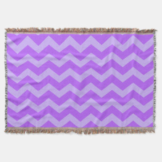 Purple and Lavender Zigzags Throw Blanket