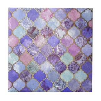 Purple and Light Blue Moroccan Tile Pattern