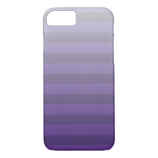 Purple and Light Gray Striped Gradient iPhone 8/7 Case