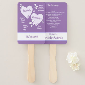 Purple and Lilac Wedding Hand Fan
