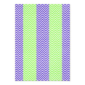 Purple and Lime Green Striped Chevron Zig Zags Announcement