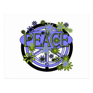 Purple and Lime Peace Postcard