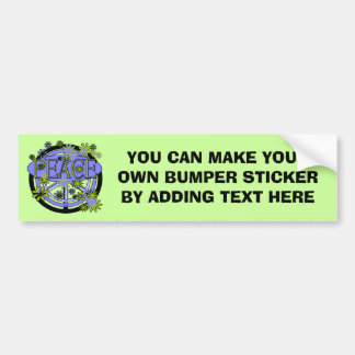 Purple and Lime Peace T-shirts and Gifts Bumper Sticker