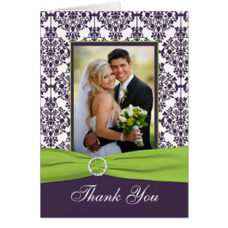 Purple and Lime Thank You Card with Photo