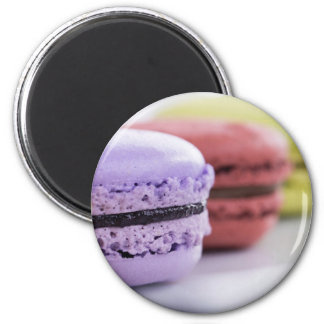 Purple and Maroon French Macaron Cookies 2 Inch Round Magnet