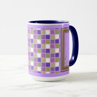 Purple And Mauve Squares Mug