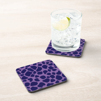 Purple and Midnight Blue Giraffe Coaster
