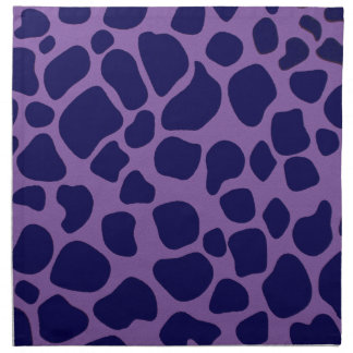 Purple and Midnight Blue Giraffe Napkin