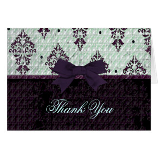 Purple and mint Thank You card