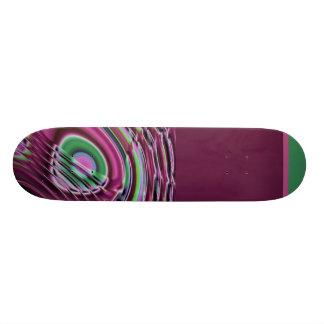 Purple and multicolored skate boards