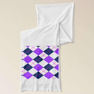 Purple and Navy Argyle Scarf