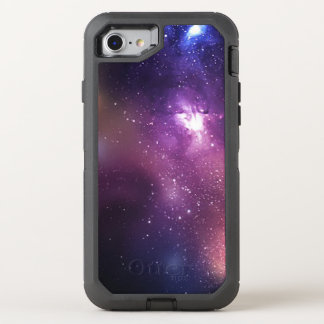 Purple and Navy Galaxy and Stars OtterBox Defender iPhone 8/7 Case