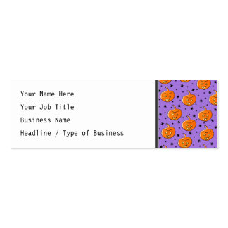 Purple and Orange Halloween Pattern Business Cards