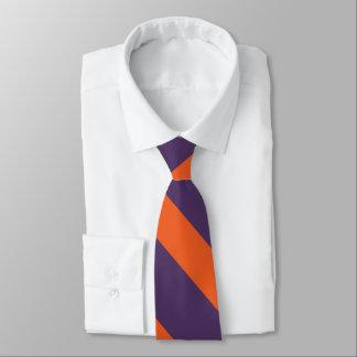 Purple and Orange II University Stripe Tie