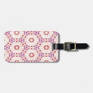 Purple and Orange Kaleidoscope Pattern Luggage Tag
