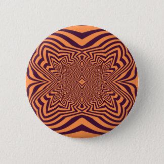 Purple and orange Opart 2 Inch Round Button