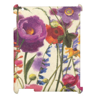 Purple and Orange Poppy Melody Case For The iPad