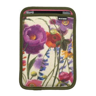 Purple and Orange Poppy Melody iPad Mini Sleeve