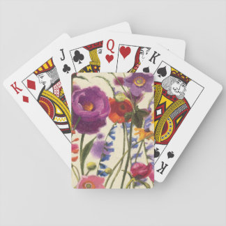Purple and Orange Poppy Melody Playing Cards
