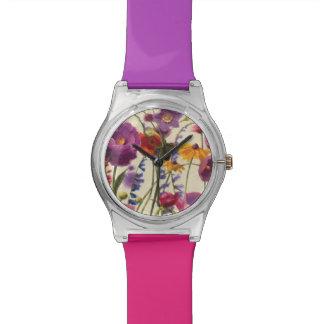 Purple and Orange Poppy Melody Wrist Watch