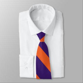 Purple and Orange University Stripe Tie