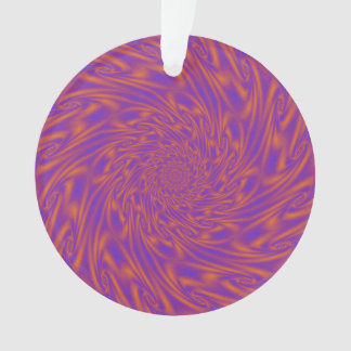 Purple and Orange Vortex Ornament