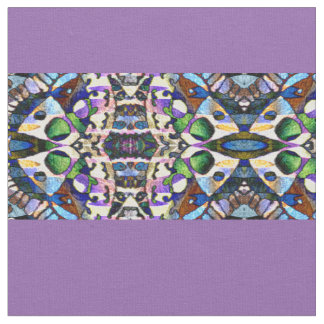 Purple and Patterned Stripes Fabric