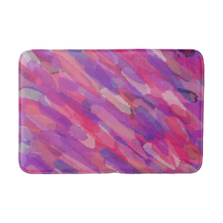 Purple and Pink Abstract Pattern Bath Mat